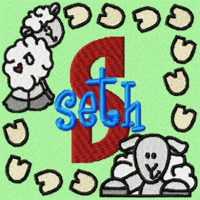 Sheep Monogram