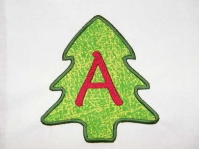 Christmas Tree Applique Monogram