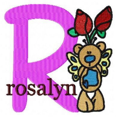 Rose Bear Monogram