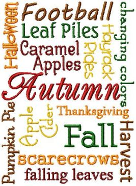 Autumn Word Block