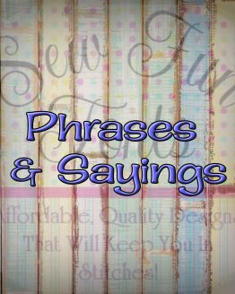 Phrases & Sayings