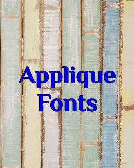 Applique Fonts